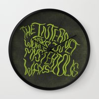 internet Wall Clocks featuring MYSTERIOUS INTERNET by Josh LaFayette