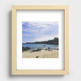 Waialea Beach (Beach 69) Recessed Framed Print