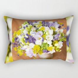Bridal freesia bouquet wedding flowers Rectangular Pillow