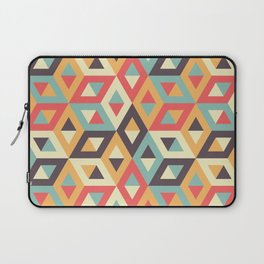 Pastel Geometric Pattern Laptop Sleeve