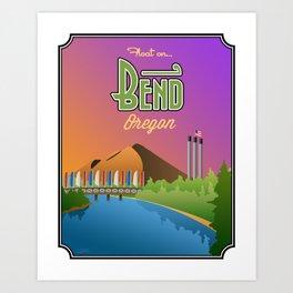 Landmarks of Life: Bend, Oregon Art Print