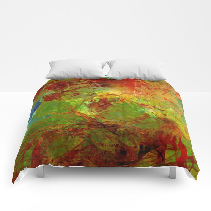 Dreamlike landscape Comforters