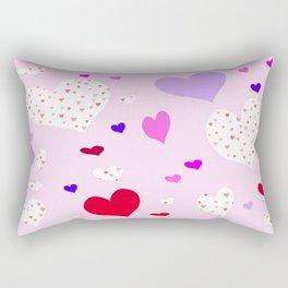 Flying Hearts Rectangular Pillow