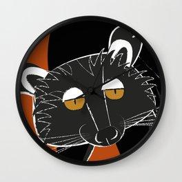 Black bear cat Wall Clock