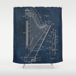 Ekman  Harp  patent art Shower Curtain