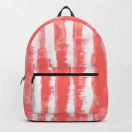 Shibori Stripe Coral Backpack