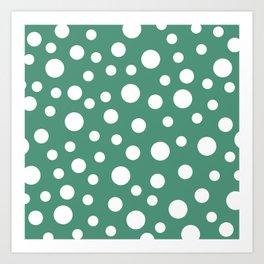 Crazy Dots: Comfrey Green  Art Print