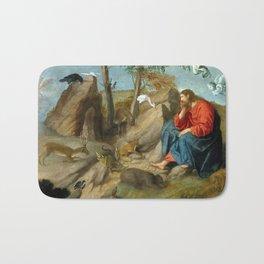 Moretto da Brescia Christ in the Wilderness Bath Mat