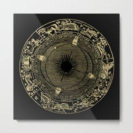 Zodiac Circle Metal Print