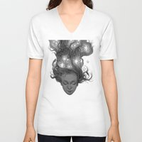 constellations V-neck T-shirts featuring Constellations by Antonio Caparo