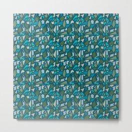 Terrazzo geometric pattern 4 Metal Print