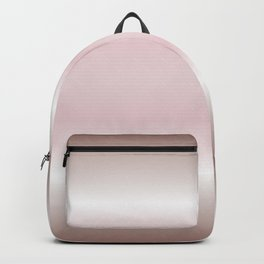 Dusky Pink Mauve Gradient Stripes Backpack