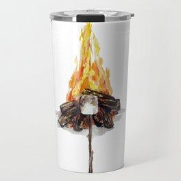 Campfire, Smore, Marshmallow Roasting, Camping Travel Mug