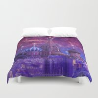 moscow Duvet Covers featuring Hipsterland - Moscow by Alejo Malia