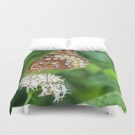 Variegated Fritillary Butterfly Duvet Cover