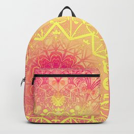 Mandala in Rose and Lemon Backpack