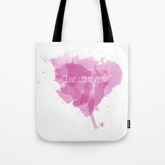 Love can be messy Tote Bag