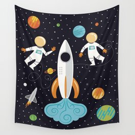 A Walk in Space Wall Tapestry