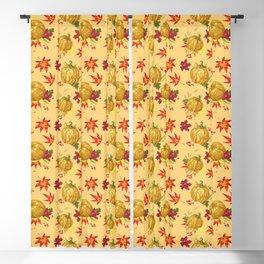 Ocher autumn pattern Blackout Curtain