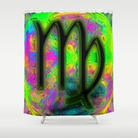 simba Shower Curtains featuring Virgo by Synesthetic