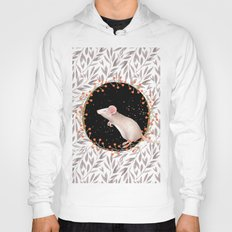 Beautiful nosey Mouse with flower backround- Animal- child - mice- flowers Hoody