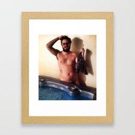 Davy Hot Tub Framed Art Print