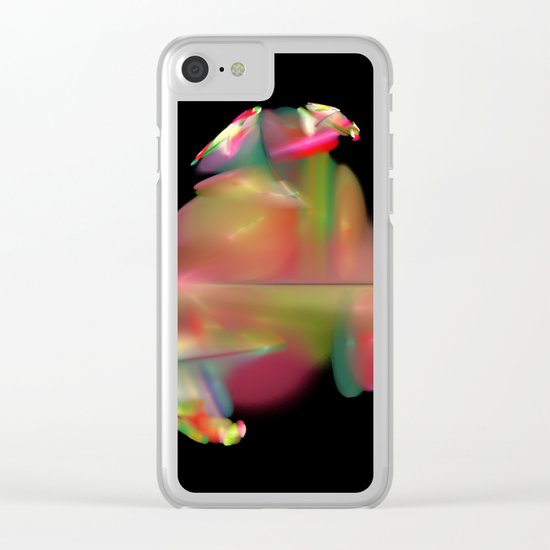 Spaceflower (A7 B0189) Clear iPhone Case
