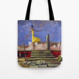 African American Masterpiece - Harlem Renaissance 'American Nightmare' Untitled by Hughie Smith Tote Bag