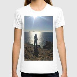 Lost Girl Wondering, Greece, Ocean T-shirt