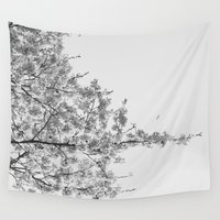 cherry blossoms Wall Tapestries featuring Cherry Blossoms by Jen Grantham Photography
