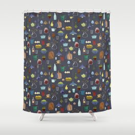 Kitchenware. Pitchers, pots, kettles and so on. Shower Curtain
