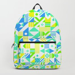 Geometric Pattern Blues Backpack