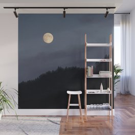 Moon over Hill #nature #buyartprints #minimalism #society6 Wall Mural
