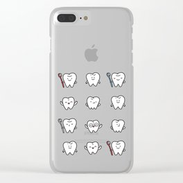 Teeth family Clear iPhone Case