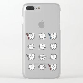Teeth family Clear iPhone Case