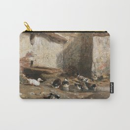 Cornelis Bisschop Decorative Scene Carry-All Pouch