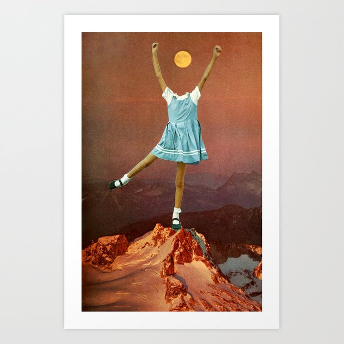 Moongirl Art Print