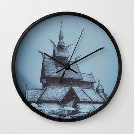 Borgund Stav Kirke IIII Wall Clock