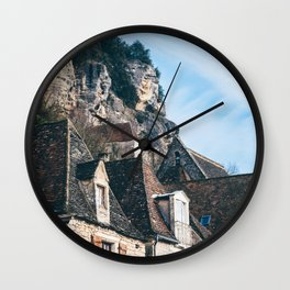 Homes of La Roque-Gageac Wall Clock