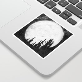 Full Moon & Trees Sticker