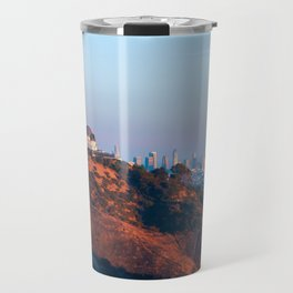 Los Angeles Griffith Park Observatory with City in Background Travel Mug