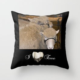 Wooly Love Throw Pillow