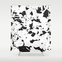 addicted to black & white no.2 Shower Curtain