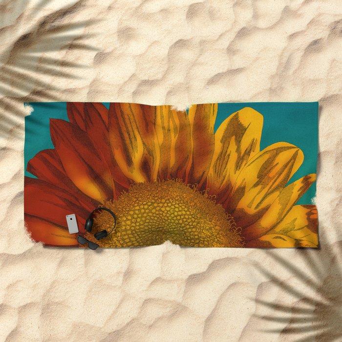 A Sunflower Beach Towel
