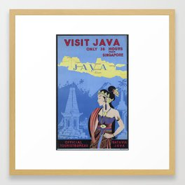 VISIT JAVA Only 36 Hours From Singapore Framed Art Print