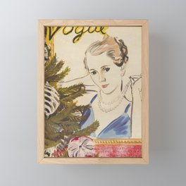 CHRISTMAS MAGAZINE 1934 Framed Mini Art Print