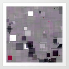 Purple Plum  Square Pattern Art Print