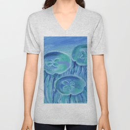 Striated Jelly Moons Unisex V-Neck