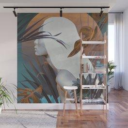 Golden Tropical Garden Wall Mural