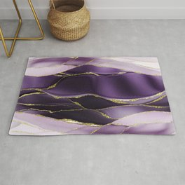 Day And Night Purple Marble Landscape Rug